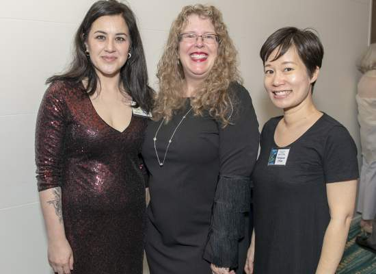 JoAnn Chaney, Linda Weiksnar and Yangsze Choo