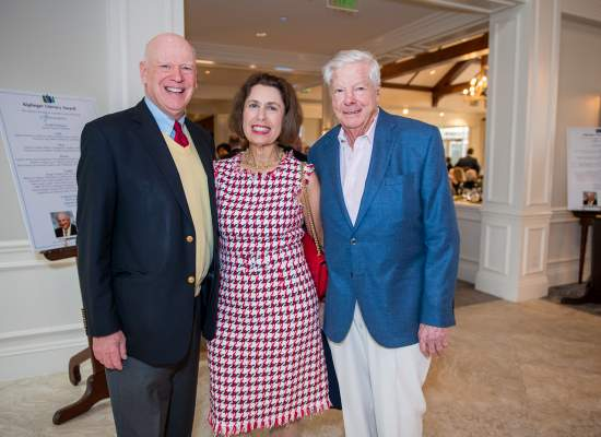 Knight Kiplinger with Phyllis and Jerry Rappaport